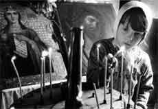 С.Скляров. Святое  (Великорецкий крестный ход). 1990